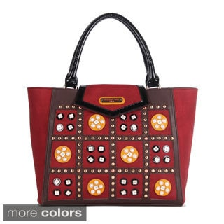 Nicole Lee 'Daysha' Flowery Embellished Tote Bag
