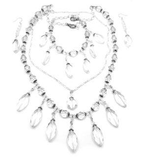 Clear Crystal 4-piece Wedding Jewelry Set