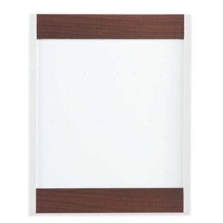 Quartet Platinum Magnetic Mahogany Total Erase Whiteboard (3' x 4')