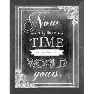 Ashely Hutchins 'Now is the Time' Framed Wall Art