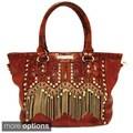Nicole Lee 'Tatiana' Chain Fringe Tote Bag