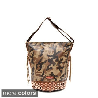 Nicole Lee 'Teagan' Camouflage Print Hobo Bag
