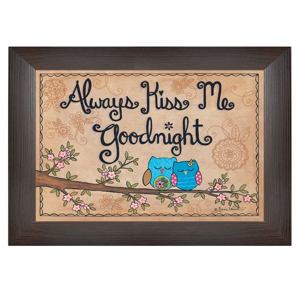 Annie LaPoint 'Always Kiss Me Good Night' Framed Wall Art