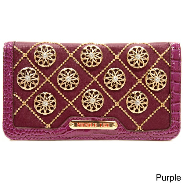 Nicole Lee 'Chrissy' Floral Quilted Wallet 12414866