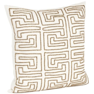 Maize Design Beaded Down Filled Throw Pillow