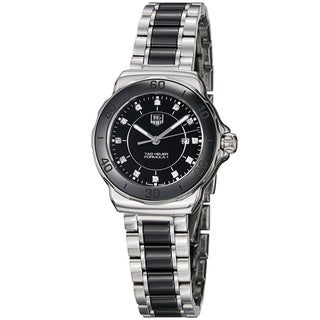 Tag Heuer Women's WAH1314.BA0867 WAH1314.BA0867 'Formula 1' Black Dial Stainless Steel Ceramic Watch