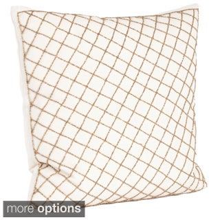 Diamond Design Beaded Down Filled Throw Pillow
