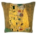 Gustav Klimt 'The Kiss' 18-inch Velour Throw Pillow