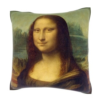Maxwell Dickson Leonardo da Vinci 'Mona Lisa' 18-inch Velour Throw Pillow