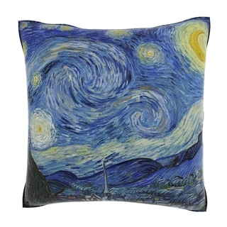 Van Gogh 'Starry Night' 18-inch Velour Throw Pillow