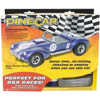Pine Car Derby Racer Premium Kit-Blue Venom
