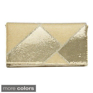 J. Furmani Metal Mesh Geometric Clutch
