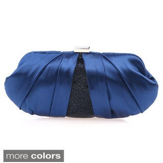 J. Furmani 'Geena' Pleated Satin Evening Bag