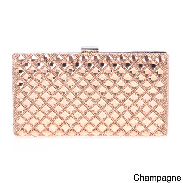J. Furmani Elegant Stone-encrusted Hardcase Clutch