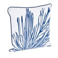 Coral Branch Design Down Filled Throw Pillow