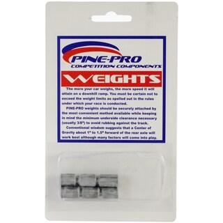 Pine Car Derby Weights 1.5oz 6/Pkg-Cylinder