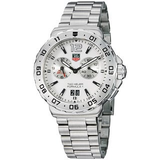 Tag Heuer Men's WAU111B.BA0858 'Formula 1' White Dial Stainless Steel Alarm Watch