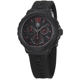 Tag Heuer Men's 'Formula 1' Black Dial Black Rubber Strap Chrono Watch