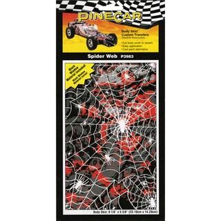 Pine Car Derby Body Skin Custom Transfers-Spider Web