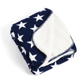 Star Design Sherpa Throw Blanket