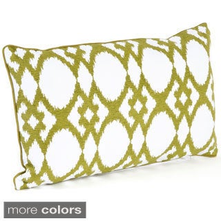 Ikat Design Ribbed Down Filled Throw Pillow