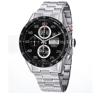 Tag Heuer Men's CV2A10.BA0796 CV2A10.BA0796 'Carrera Calibre 16' Stainless Steel Bracelet Watch
