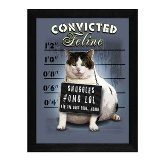 Jim Baldwin 'Convicted Feline' Framed Wall Art