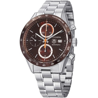 Tag Heuer Men's CV2013.BA0794 CV2013.BA0794 'Carrera' Brown Dial Stainless Steel Automatic Watch
