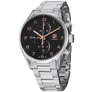 Tag Heuer Men's CAR2014.BA0799 'Carrera' Black Dial Stainless Steel Automatic Watch