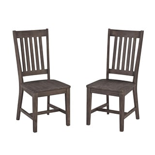Solid Acacia Wood Dining Chair Set (Set of 2)