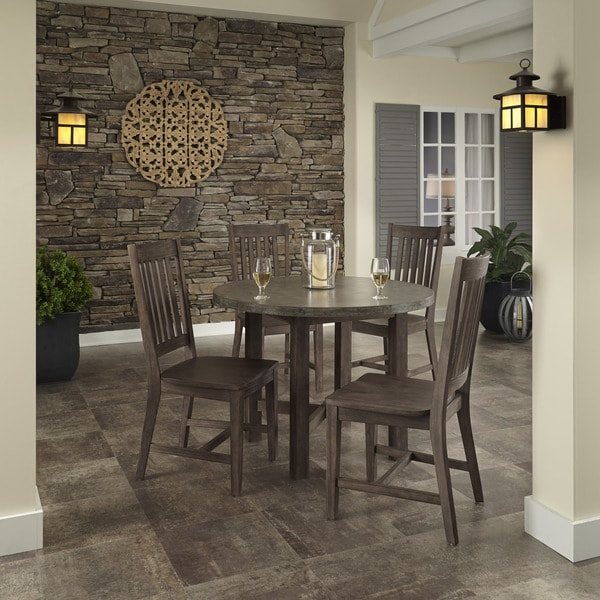Concrete Chic 5-piece Dining Set