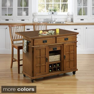 Arts and Crafts Kitchen Cart with Two Stools