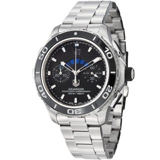 Tag Heuer Men's CAK211A.BA0833 CAK211A.BA0833 'Aquaracer500' Black Dial Stainless Steel Watch