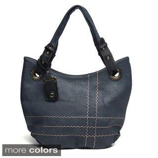 J. Furmani Topstitched Tri-colored Handbag