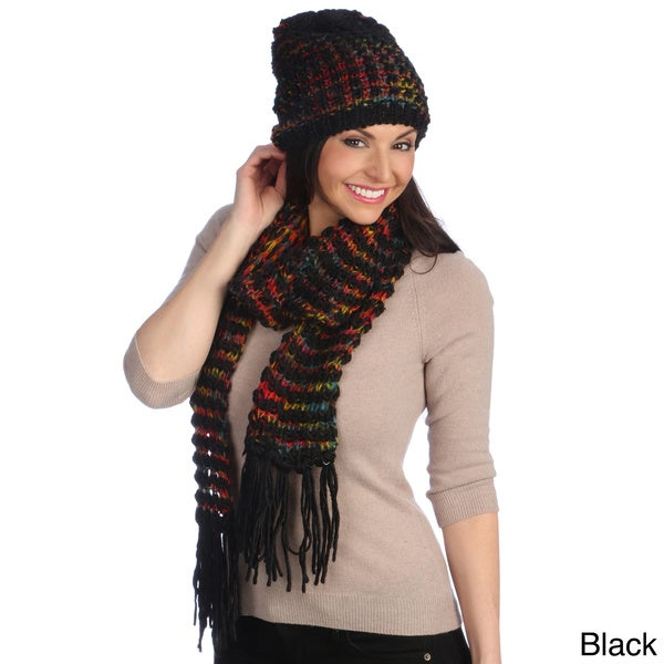 J. Furmani Knit Winter Scarf and Hat Set