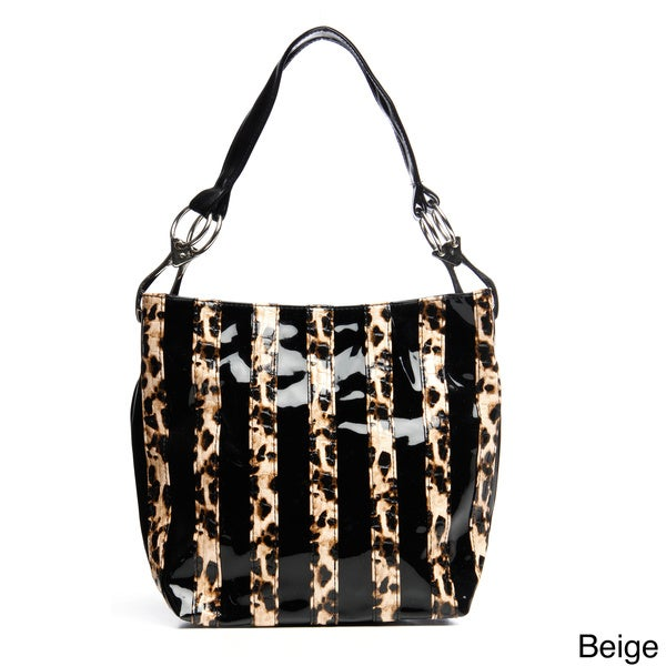 J. Furmani Patent Animal Stripes Tote