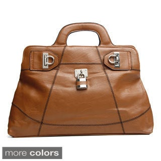 J. Furmani Elegant Leather Satchel Bag