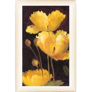Art Decour 'Yellow Poppy' Framed Wall Art