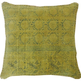 Hand-crafted Art Green Decorative Accent Pillow