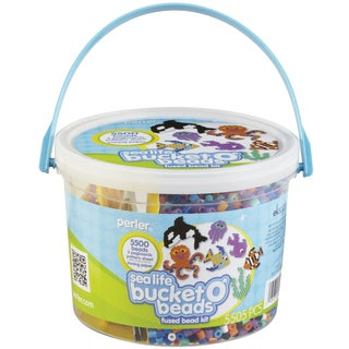 Perler Bucket O' Beads Fun Fusion Fuse Bead Kit-Sea Life