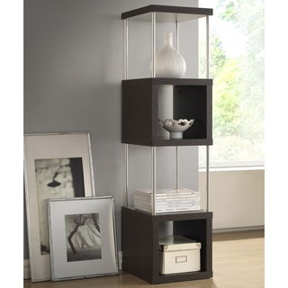 Baxton Studio 'Evelyn' Dark Brown/ Espresso Modern Storage Shelf