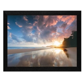 Dennis Frates 'Sunset and Clouds' Framed Wall Art