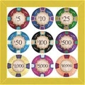 GI Artlab 'Poker Chips' Framed Wall Art