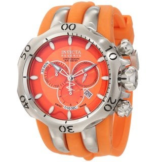 Invicta Men's 10829 'Reserve Venom' Orange Chronograph Watch