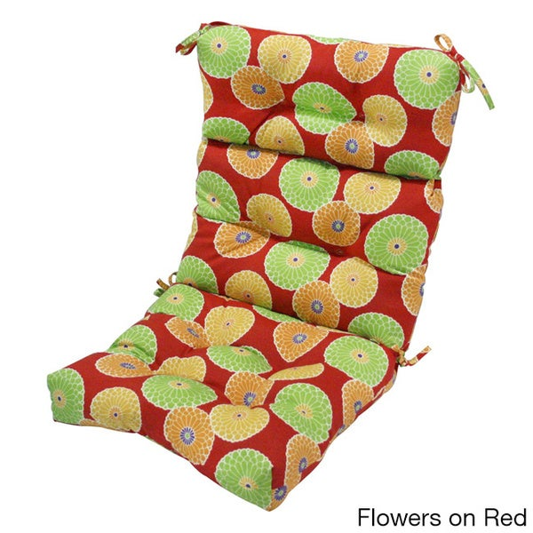 44x22-inch 3-section Outdoor High Back Chair Cushion - 16012481 - Overstock.com Shopping - Big ...