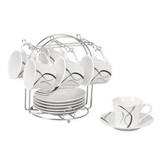 Confetti Espresso Set on Stand (Service for 6)