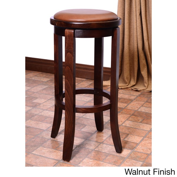 Paris Solid Beech Swivel Bar Stool