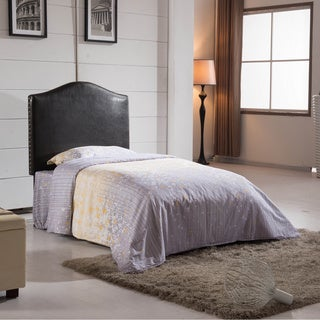 Classic Faux Leather Twin-size Nailhead Trim Headboard