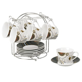 Coffee design Espresso Set on Stand (Service for 6)