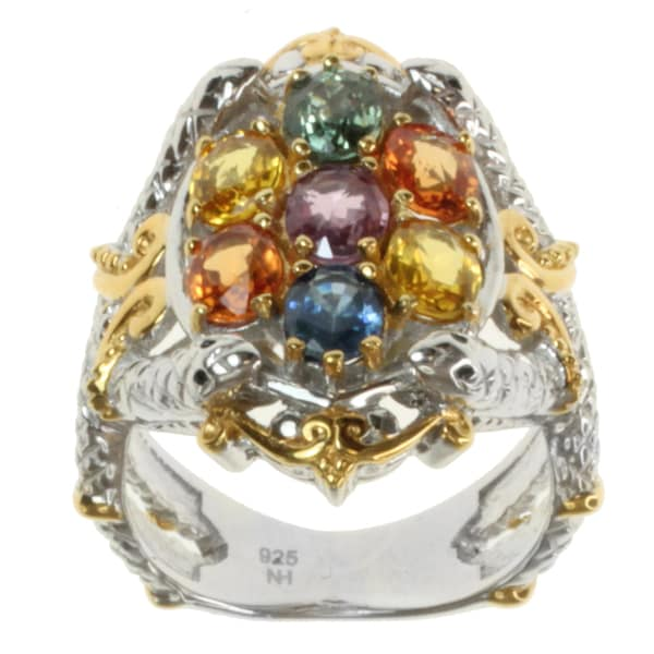 Michael Valitutti Two-tone Multi-Sapphire Snake Ring